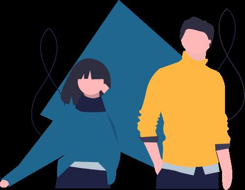 Die Illustration eines Mannes und einer Frau steht für die Tatsache, dass alle Geschlechter gemeint sind, auch wenn nur die männliche Form im Text steht.